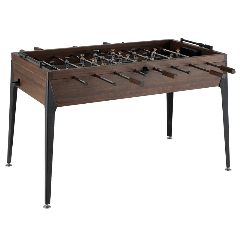District Eight Smoked Oak Rustic Industrial Style Foosball Table By Nuevo