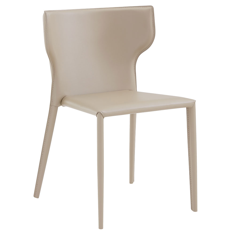 Divinia Modern Light Gray Stacking Chair by Euro Style