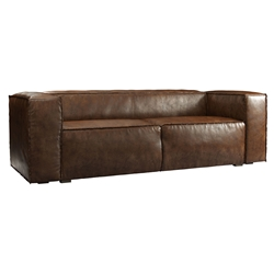 Dominick Modern Leather Sleeper Sofa in Aged Whisky by Modloft Black