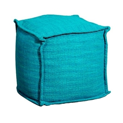 Dorris Contempory Pouf in Blue