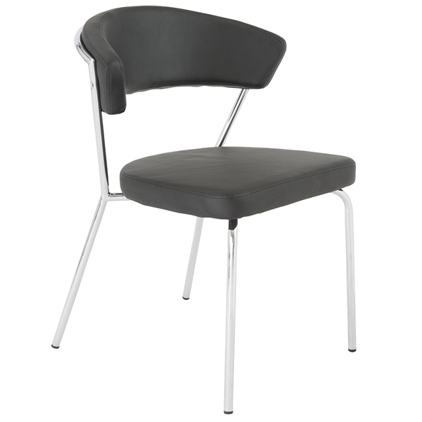 Euro Style Draco Modern Dining Chair in Black