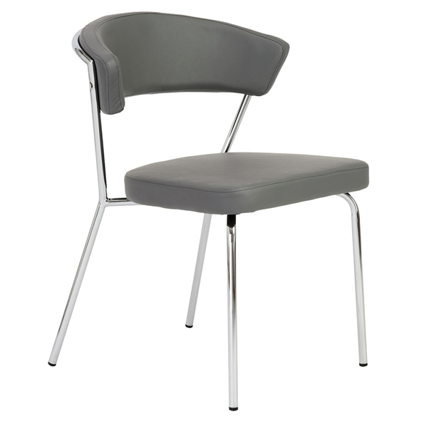 Euro Style Draco Modern Dining Chair in Gray