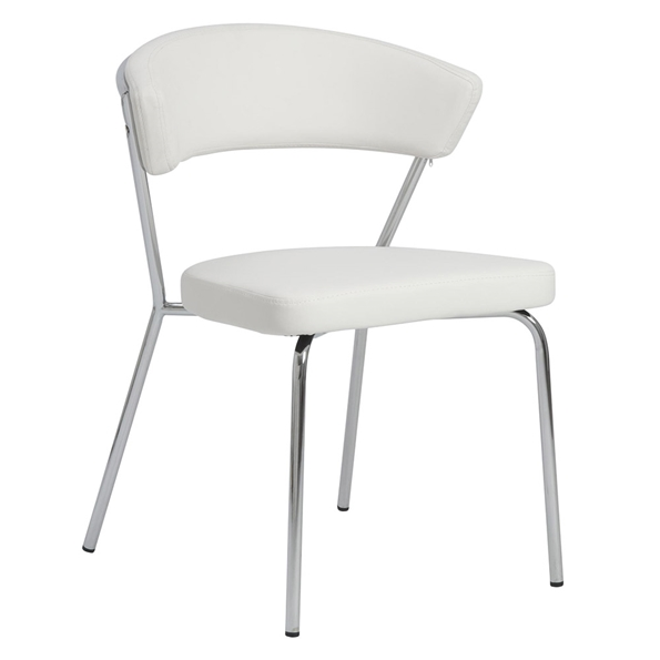 Euro Style Draco Modern Dining Chair in White