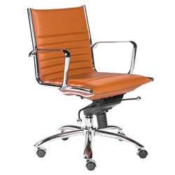 Dirk Modern Cognac Low Back Office Chair