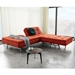 Dublexo Sofa + Chair in Paprika & Stainless by Innovation