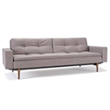 dublexo sleeper sofa with dark wooden legs
