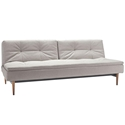 Dublexo Modern Sleeper Sofa - Natural + Dark Wood