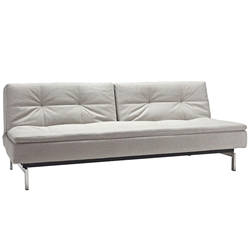 Dublexo Modern Sleeper Sofa - Natural + Stainless Steel