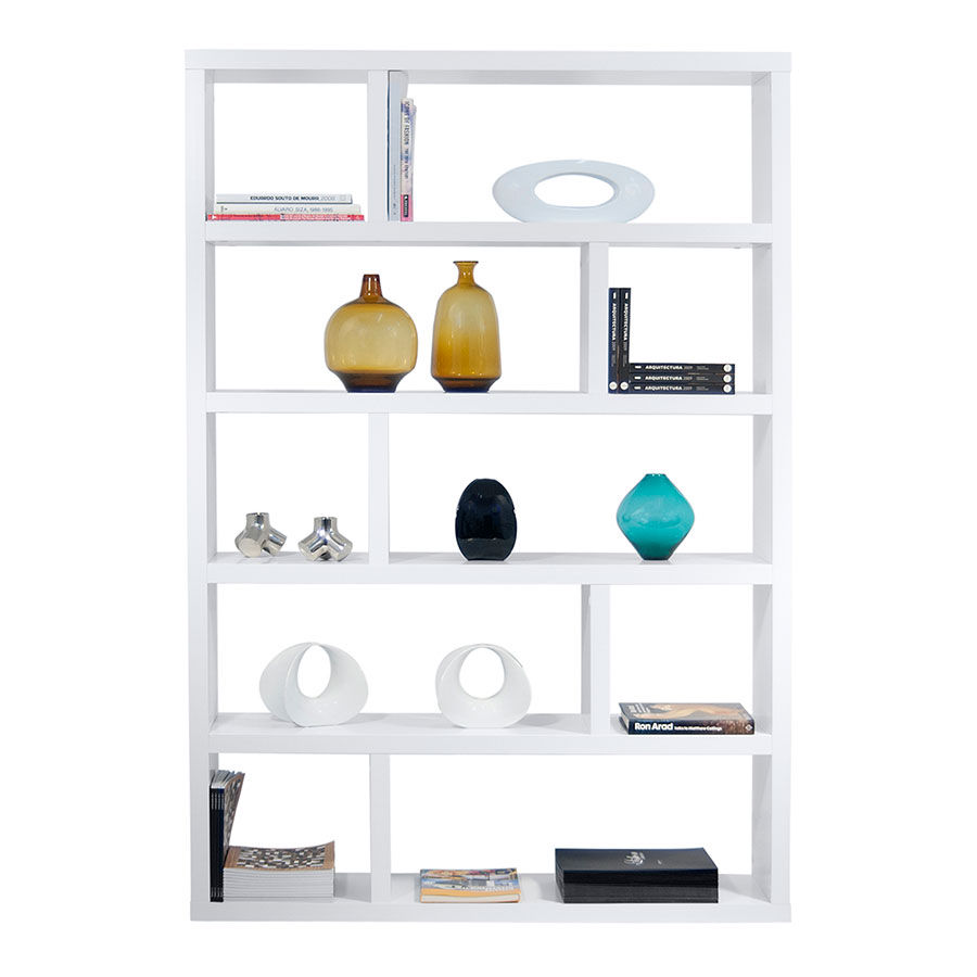 modern furniture shelves. Dublin Tall White Modern Bookcase By TemaHome Furniture Shelves