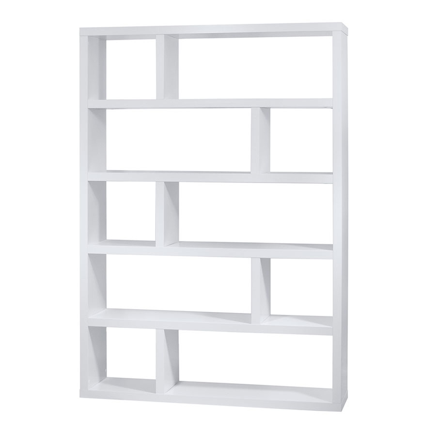 Dublin tall white modern bookcase by temahome eurway for Read your bookcase buy