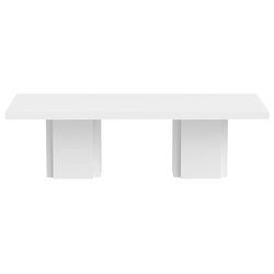 "Dusk 102"" White Contemporary Dining Table"