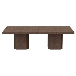 "Dusk 102"" Chocolate Rectangle Minimalist Modern Dining + Conference + Work Table by TemaHome"
