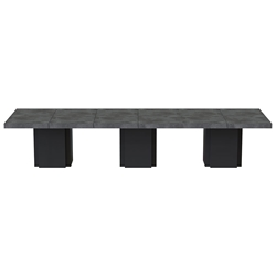 "Dusk 153"" Concrete Finish Top Modern Minimalist Dining Table by TemaHome"