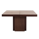 "Dusk 51"" Chocolate Square Modern Dining + Work Table by TemaHome"