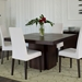 "Dusk 51"" Chocolate Square Modern Minimalist Dining + Work Table"