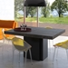 "Dusk 51"" Concrete Finish Top Square Minimalist Contemporary Dining + Work Table"