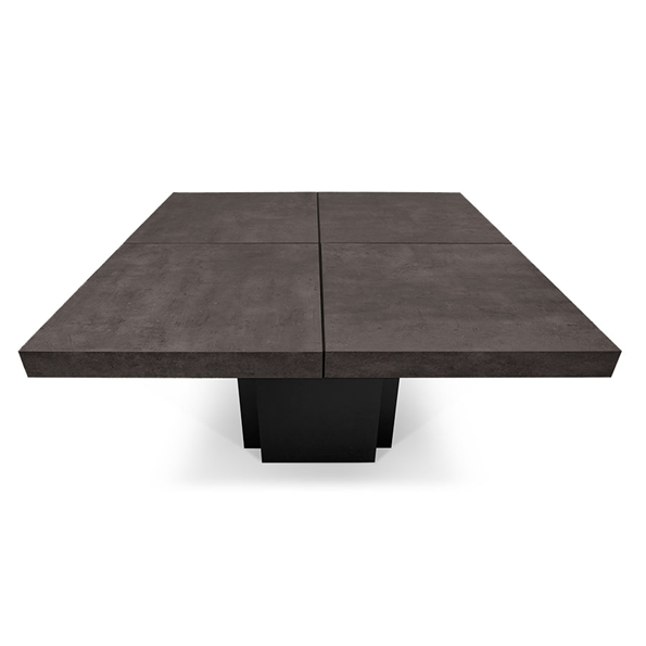 Dusk 59 Concrete Top Square Modern Dining Work Table By Temahome