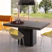 "Dusk 59"" Concrete Top Square Contemporary Minimalist Dining + Work Table"