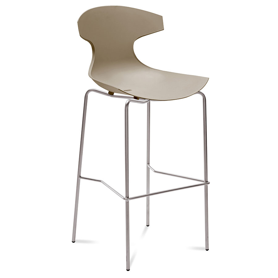 Eko Tan Modern Bar Stool