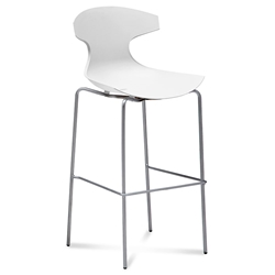 Eko White Modern Bar Stool