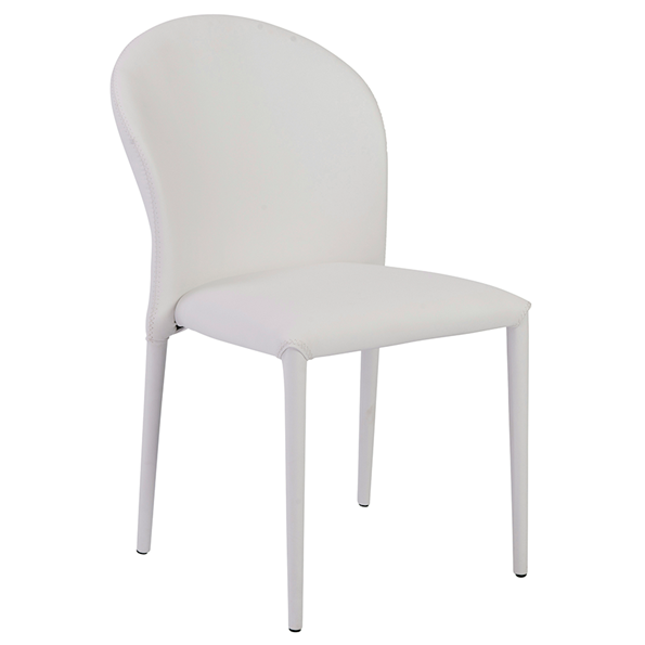 Egan White Modern Side Chair
