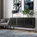 BDi Elements 3 Door Modern Media Console with Tempo Doors in Charcoal Finish - Room Shot