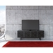 Elements 4 Door Modern Media Stand by BDI in Wheat and Charcoal