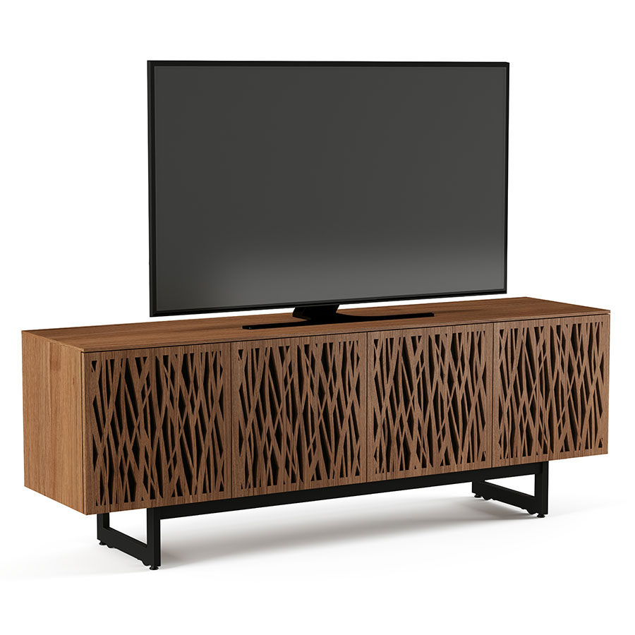 BDI Walnut Elements Media Stand w/ Wheat Doors  sc 1 st  Collectic Home & BDI Elements 4 Door Laser Cut Modern TV Stand | Eurway