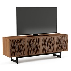 BDI Walnut Elements Media Stand w/ Wheat Doors