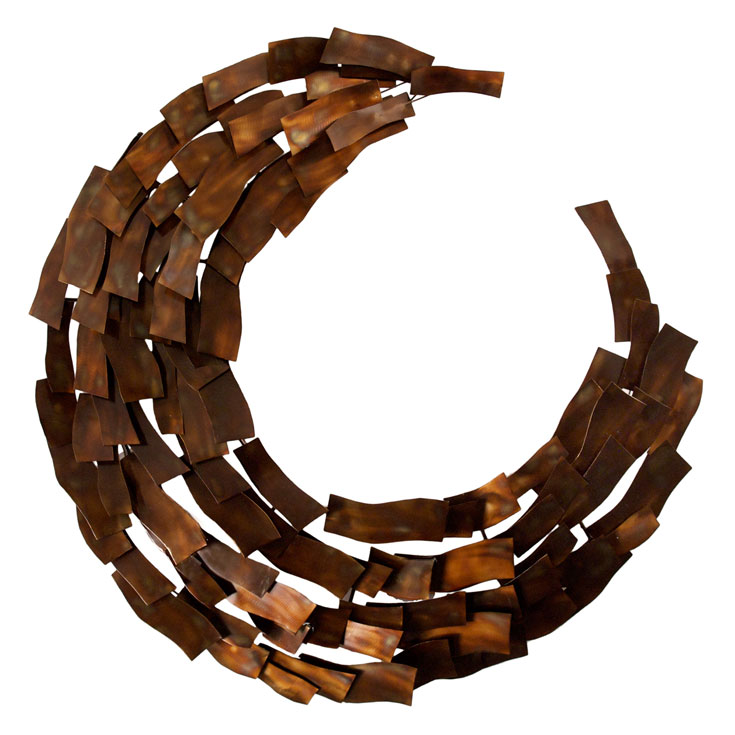 Elliptical Contemporary Wall Sculpture Collectic Home