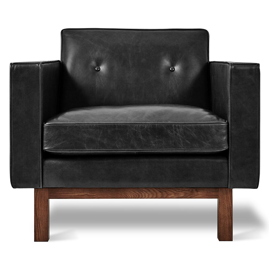 Gus Modern Embassy Saddle Black Leather Chair Eurway