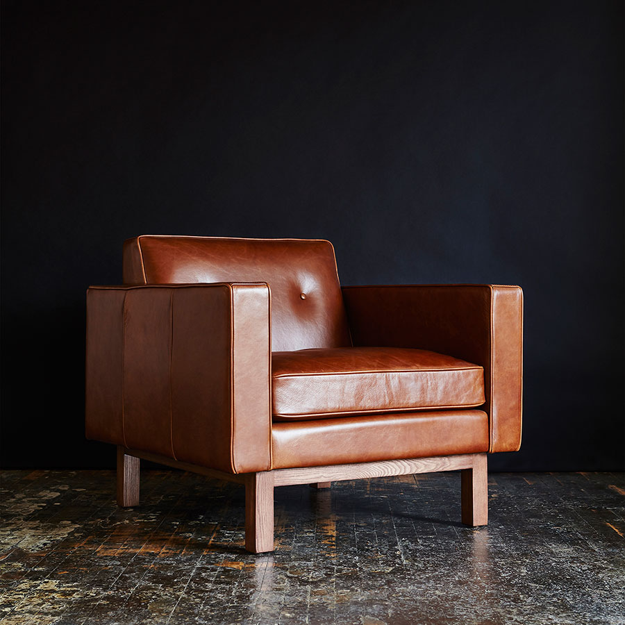 Gus Modern Embassy Saddle Brown Leather Chair Eurway ~ Modern Leather Sofa Brown