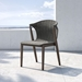 Modloft Embras Modern Dining Chair in Shades of Gray Regatta Cord and Weathered Eucaplyptus - Lifestyle