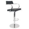 Erna Black Adjustable Contemporary Stool