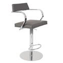 Erna Gray Adjustable Contemporary Stool