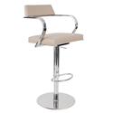 Erna Latte Adjustable Contemporary Stool