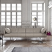 Essex Genuine Leather Modern Sofa in Opala by Modloft Black - Lifestyle, Angle View