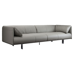 Essex Genuine Leather Modern Sofa in Opala by Modloft Black