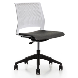 Eva Modern White Task Chair by Unique Furniture