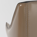Eysen Taupe Leather Contemporary Arm Chair Detail