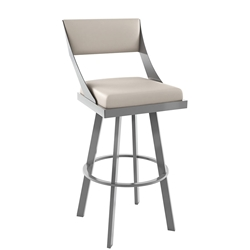 Fame Counter Stool Shown in Magnetite and Oyster