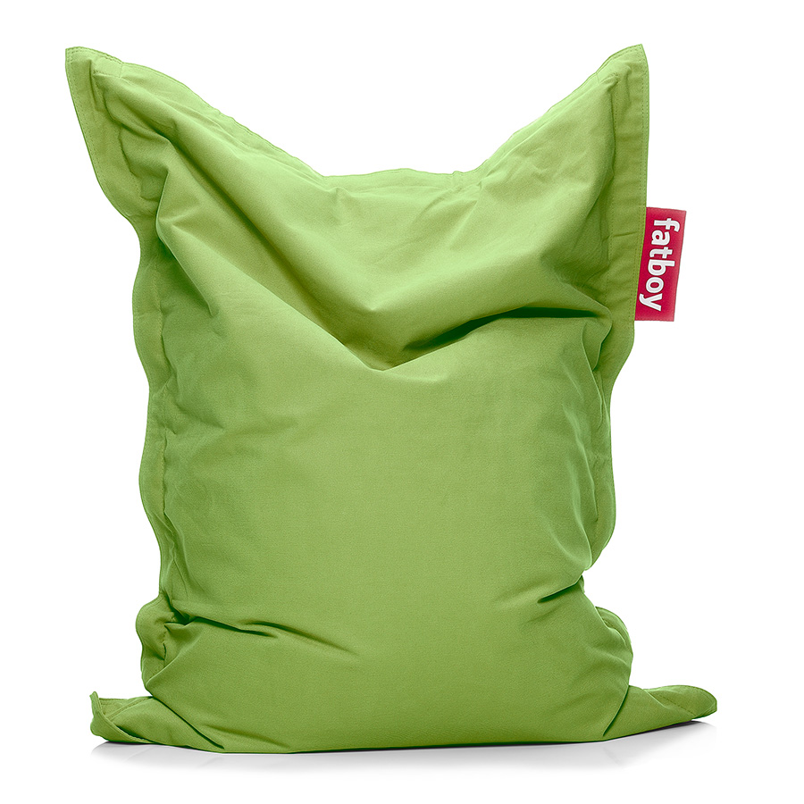 Attirant Fatboy Junior Stonewashed Lime Green Modern Bean Bag Chair