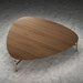 Finsbury Walnut Wood + Brass Metal Modern Coffee Table by Modloft Black - Lifestyle
