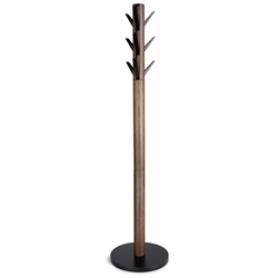 Umbra Flapper Modern Coat Rack in Black + Walnut