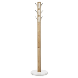 Umbra Flapper Modern Coat Rack in White + Natural