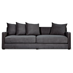 Gus* Modern Flipside Sofa Bed in Velvet Mercury fabric upholstery