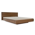 Float Modern Platform Bed in Walnut by TemaHome