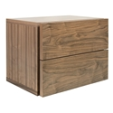 Float Walnut Contemporary Nightstand by TemaHome