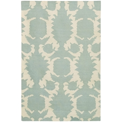 Flock 3x5 Rug in Blue and Cream