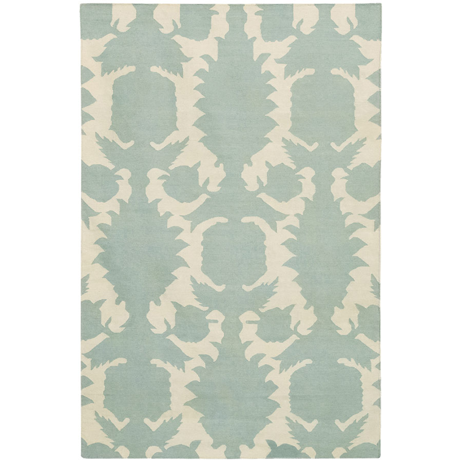 Flock 3'x5' Rug in Blue and Cream